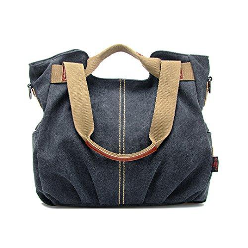 Aisa Women's Casual Canvas Tote Fashion Daily Purse Hobo Handbag Shoulder Bag Durable Shopping Bag