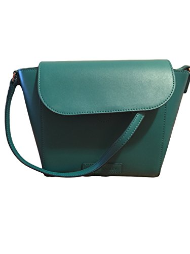 Gorgeous Vera Bradley Flap Crossbody Handbag in Teal Blue Faux Leather Collection