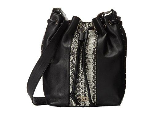 Cole Haan Antoinette Drawstring Hobo Handbag Black/Snake