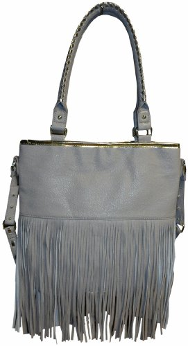 Steve Madden Women's Large Fringy Tote Handbag (Bisque)