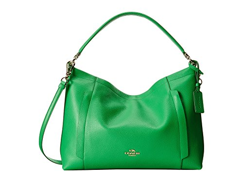 Coach Scout Hobo in Green Pebble Leather 34312