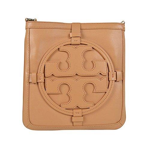 Tory Burch Holly Leather Crossbody Bookbag Vintage Vachetta