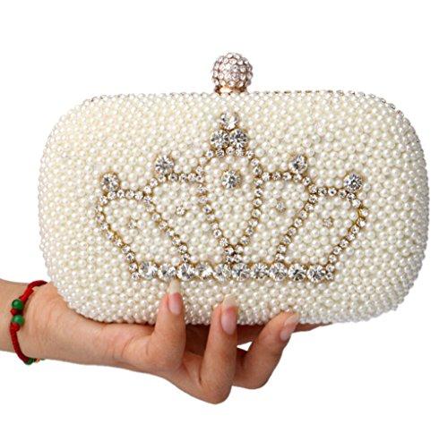 Abless Womens Glamour Elegant Evening Clutch Fashion Purse Chain Handbag -SK1063