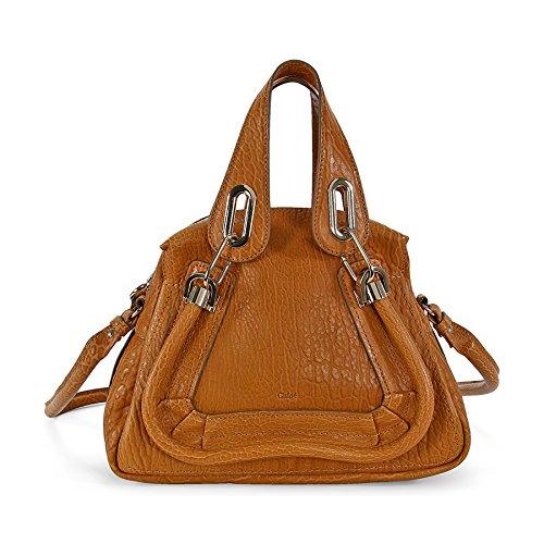 Chloe Paraty Small Leather Satchel Handbag – Brown 3S0024-977-B7D