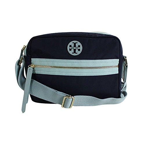 Tory Burch Soft Nylon Sling Camera Shoulder Bag Navy Geyser