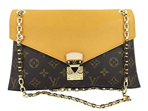 Louis Vuitton Pallas Chain Safran M41246 Clutch Shoulder Bag Cross Body