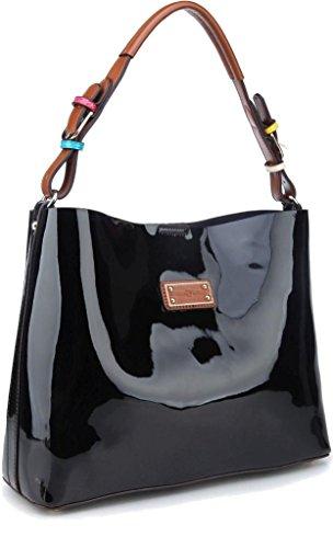 Charo Garcia Classic Italian Patent Leather Handbag