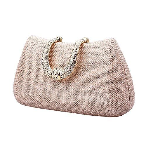 Ilishop Women's Famous Brand Clutch Handbag (Champagne)