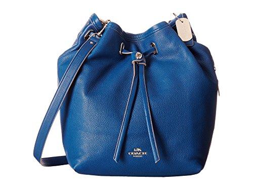 COACH Women's Matte Soft Grain Turnlock Tie Bucket Bag LI/Denim Cross Body