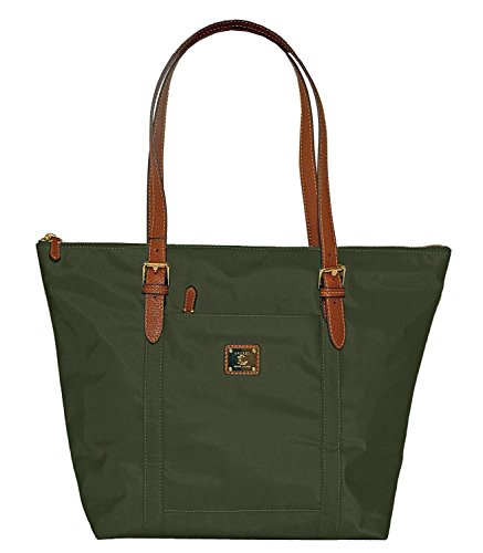 Lauren Ralph Lauren Women's Olive Green Nylon Duffield Tote Shoulder Bag Handbag