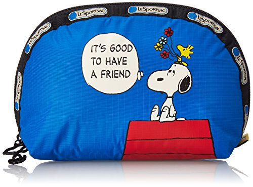 LeSportsac Peanuts X Medium Dome Cosmetic Bag, Snoopy Doghouse Cos, One Size