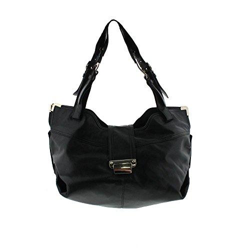 Kooba Womens Natasha Leather Expandable Hobo Handbag