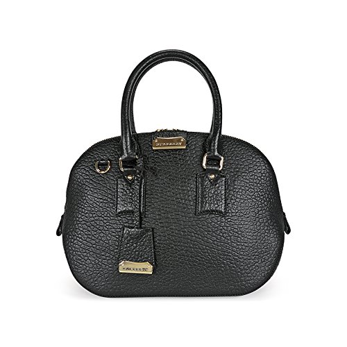 Burberry Small Orchard Leather Bowling Bag – Black