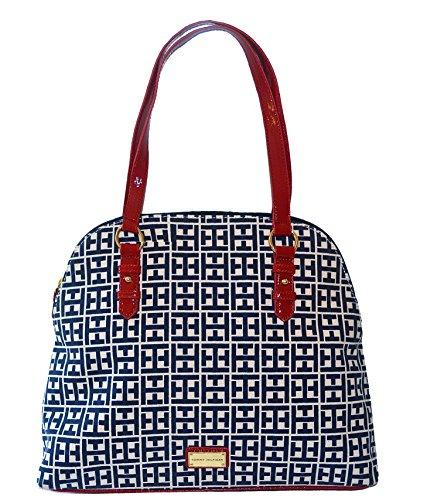 Tommy Hilfiger Signature Dome Satchel Handbag Purse