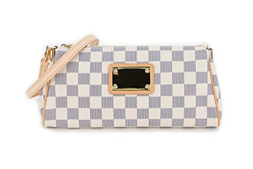 Women Damier Azur Canvas EVA Clutch Bag
