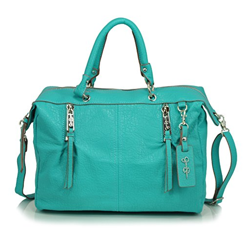 Jessica Simpson Abbey Satchel Cross Body Bag, Aqua
