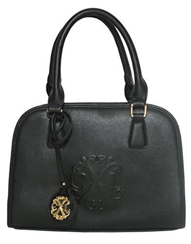 CXL By Christian Lacroix 'Montmartre' Black Womens PU Leather Satchel Bag Shoulder Handbag