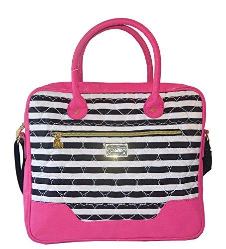 Betsey Johnson Candy Stripe Laptop Bag Brief Case Multi