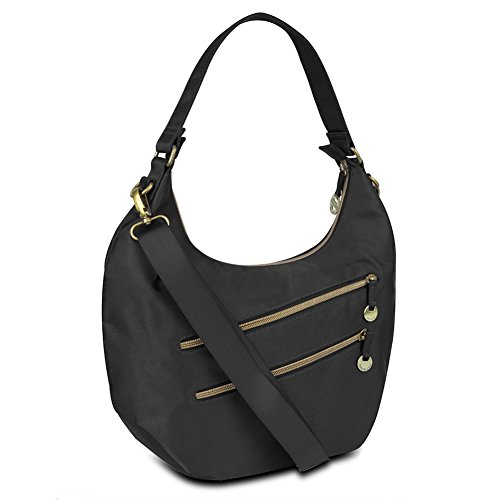 Travelon Convertible Hobo with RFID Protection – Black