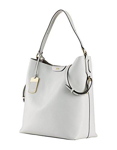 Lauren by Ralph Lauren White Tate Leather Hobo Bag