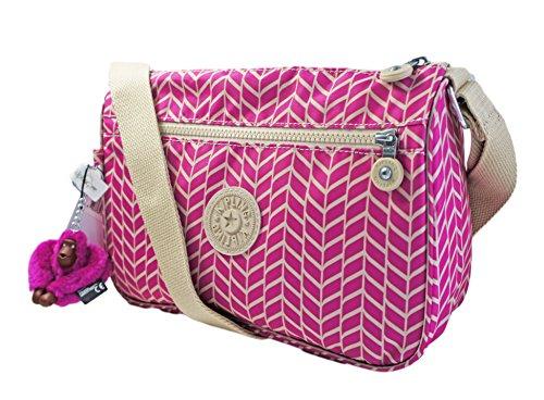 Kpling Callie Crossbody Bag in Chevron Magenta Print