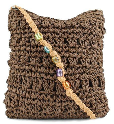 Scarleton Straw Shoulder Bag H3244