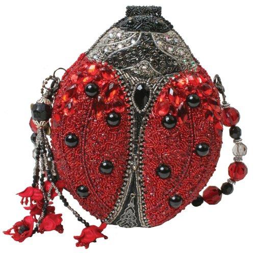 Mary Frances Red Lady Bug Convertible Clutch Handbag