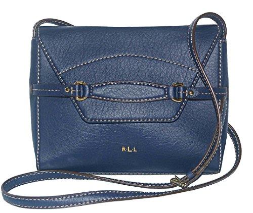 LAUREN Ralph Lauren Sheldon Flap XBody Crossbody Bag Handbag Purse Bright Navy