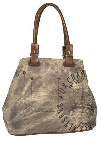 Tosca Convertible Tote Handbag Champs Elysees Brown