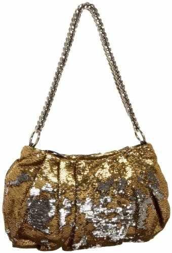 orYANY Wendy Sequin Evening Shoulder Clutch Bag Chain Gold