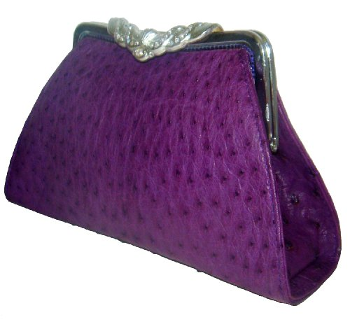 Anita OsPrp- Genuine Ostrich Skin Clutch Handbag