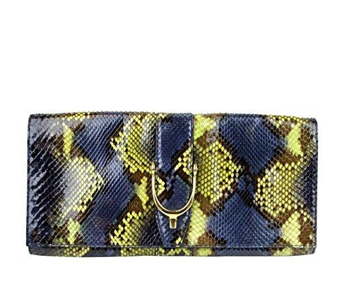 Gucci Ladies Multi Color Soft Stirrup Python Clutch Bag 304719 4293