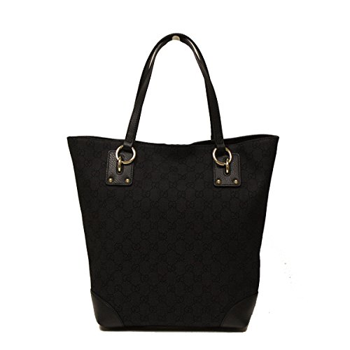 Gucci Medium Black Canvas and Leather Tote Bag 353706
