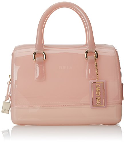 Furla Candy Cookie Mini Satchel Top Handle Bag, Winter Rose, One Size