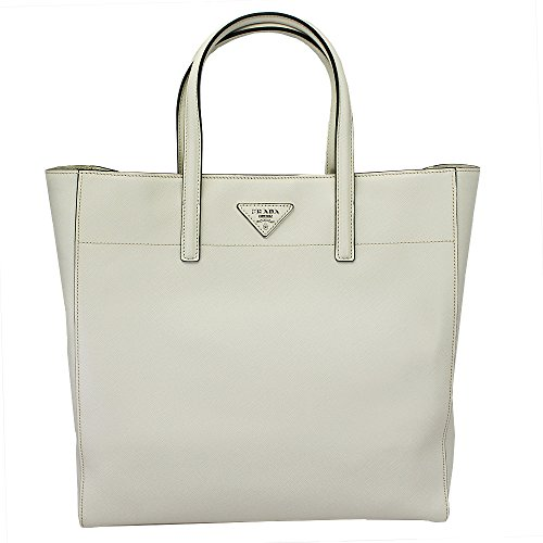 Prada Women's Ivory Saffiano Leather Hand Bag W/strap Bn2666