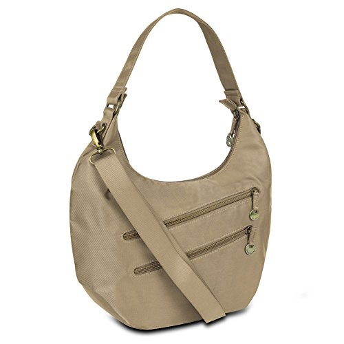 Travelon Convertible Hobo with RFID Protection – Champagne