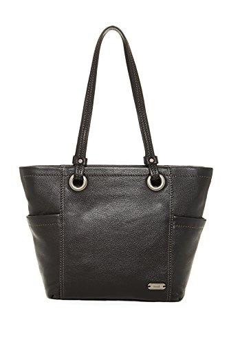 The SAK Landis Leather Tote Shoulder Bag, Black