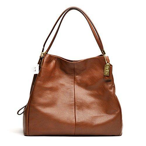Coach Large Madison Leather Phoebe Shoulder Bag 24621 Chestnut