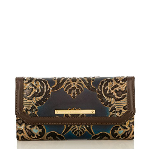 Brahmin Soft Checkbook Wallet in Embossed Leather
