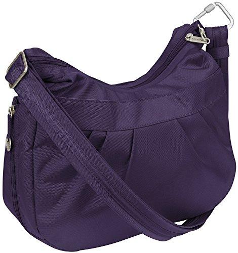 Travelon Anti-Theft Adjustable Crescent Bag Grape