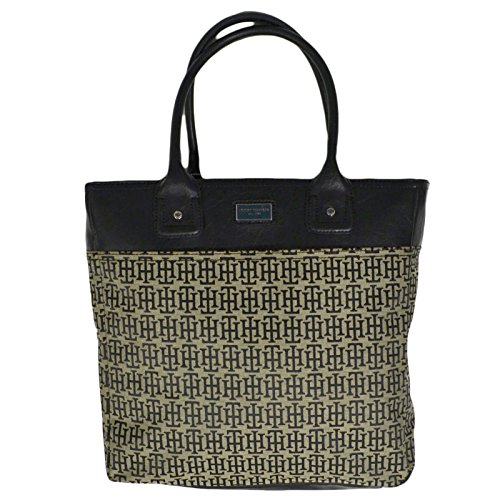 Tommy Hilfiger Womens Large Tote Handbag Black Purse