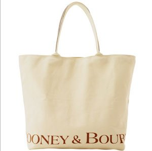 Dooney Bourke Fabric Reusable Large Canvas Bag Tote Natural