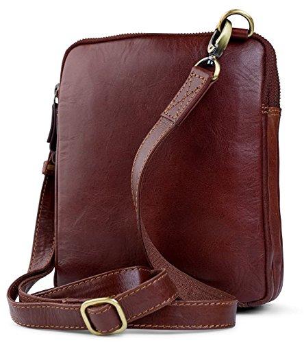 817d8feffa Visconti Leather Small Shoulder Bag Messenger Cross-Body Bag Sling Bag  Handbag