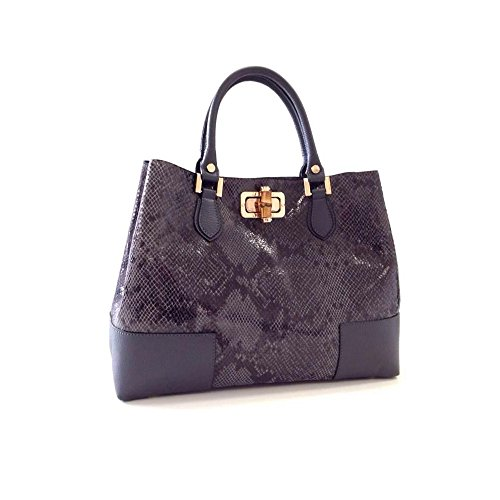 Designer Handmade Italian Leather Handbags – Python Grey