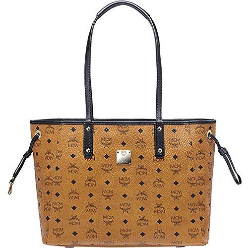 2015 AW MCM Authentic SHOPPER PROJECT Medium Reversible Shopper Bag_Cognac MWP5AVI38CO