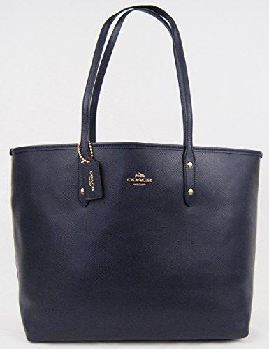 Coach 37151 City Tote Midnight Leather Shoulder Bag Handbag