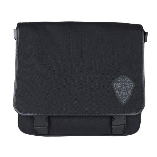 3bff3103fc Gucci Unisex Black Canvas Leather Trimmed Shoulder Messenger Bag