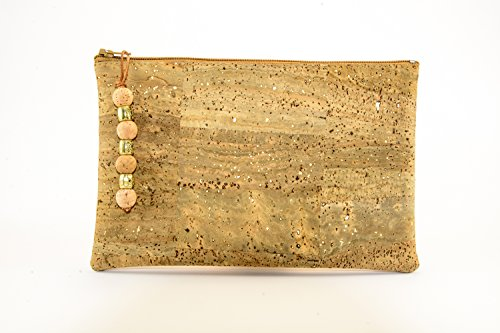 Vegan Cork Purse Clutch. Handmade from Portuguese cork fabric. The Liege Cortisa natural cork clutch is the new European fashion in natural wine cork, designed in Lisbon.