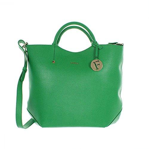 Furla Alissa Large Tote Emerald