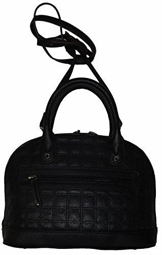 """Tignanello Women's Genuine Leather """"Mini Dome"""" Handbag, Black"""